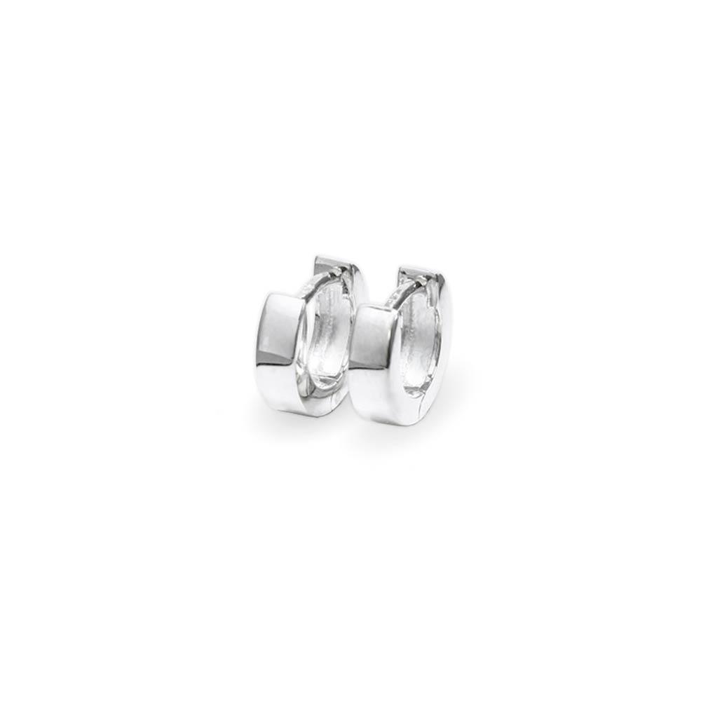 echt-925-Sterlingsilber-Klapp-Creolen-Rund-und-Quadratisch-Ohrringe-Damen-Herren