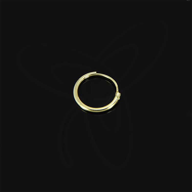 REAL-yellow-GOLD-HOOP-EARRINGS-333-PAIR-or-Single-EARRING-MEN-WOMEN-CHILDREN