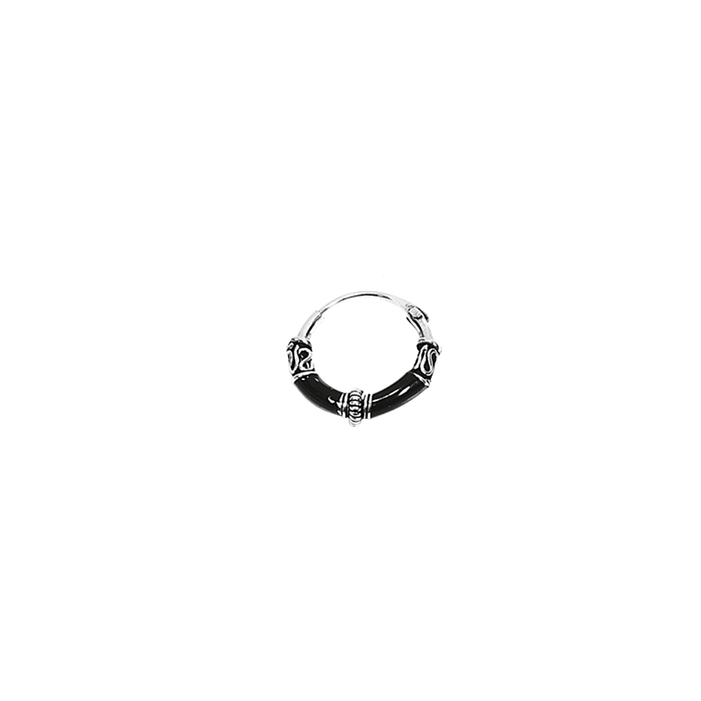 925 STERLINGSILBER Ohrringe Keltische CREOLE Amulett SINGLE / PAAR Gothic Bali