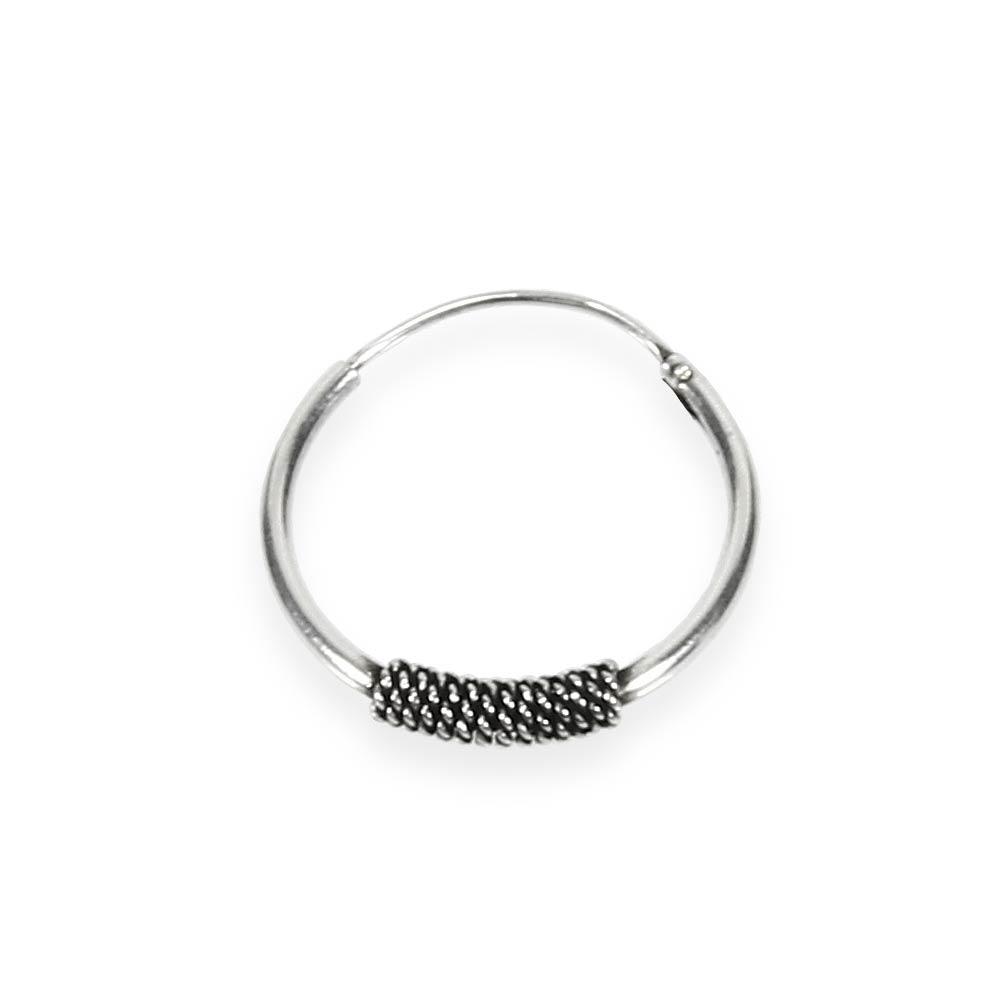 925 Silber Single Ohrring Keltische CREOLE Gothic Celtic Bali EINZEL 14mm 5032